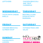 This Mom's Menu for the Week of September 24th