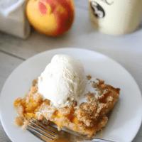 Keto Peach Cobbler Cake