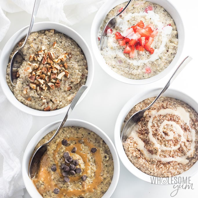 Easy Low Carb Keto Oatmeal Recipe - 5 Ingredients