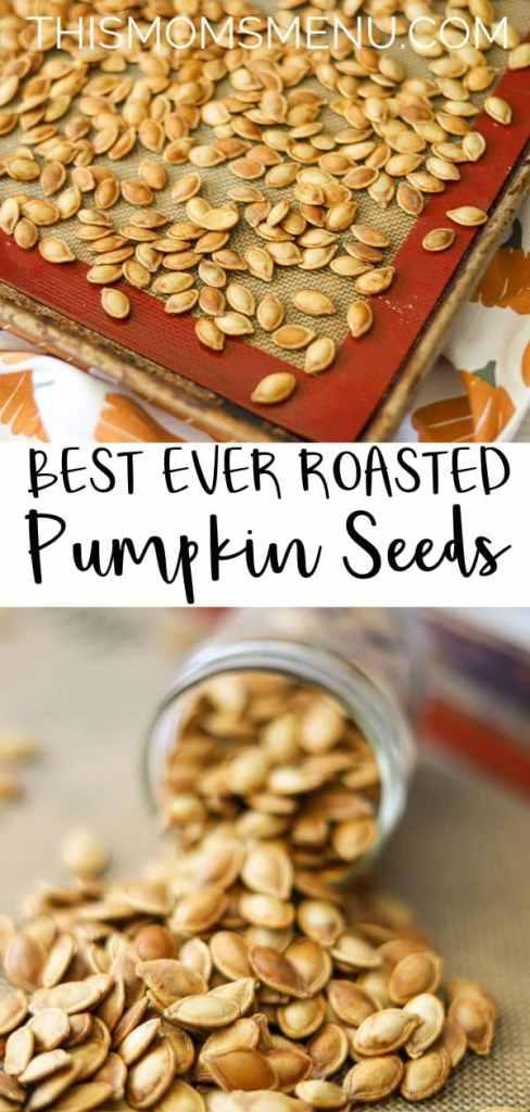 best ever roasted pumpkin seeds pinterest image