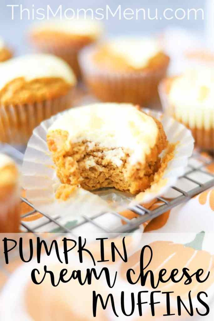 low carb pumpkin cream cheese muffin pinterest image
