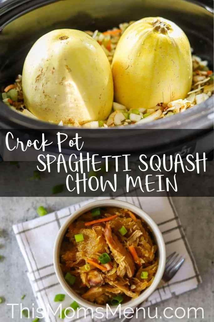 crockpot spaghetii squash chow mein pinterest image