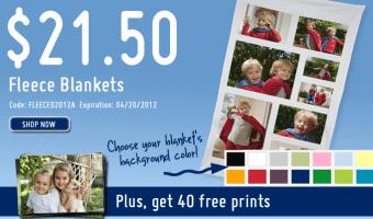 *HOT* York Photo: Photo Fleece Blanket only $21.50 (SAVE $21.49)!!