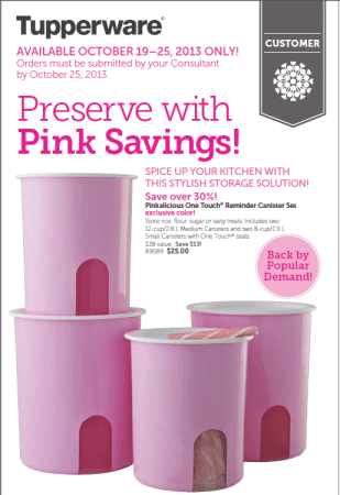 Pinkalicious Canisters
