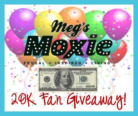 megs moxie 20k fan giveaway