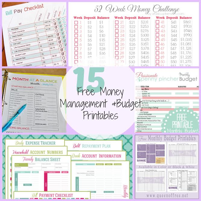 photo relating to Budget Printables Free named 15 Free of charge Cash Handle Finances Printables!