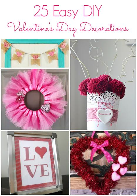 valentiness day is right around the corner so it is time to get out the pretty pink and red decor for valentines day instead of buying some decor from - Valentine Decorations To Make