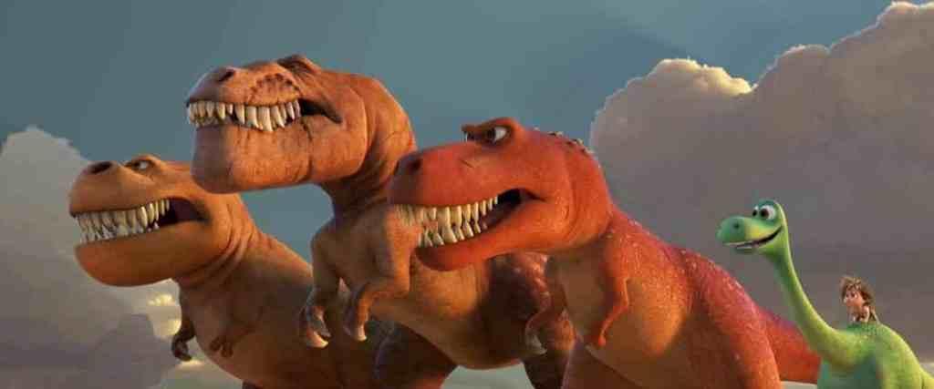 A trio of t-rexes
