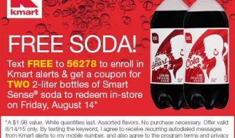 2 FREE 2 Liter Bottles of Soda at Kmart