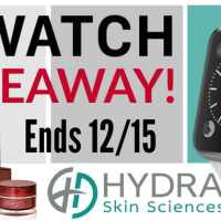 Apple Watch and Hydra Skin Sciences Turn Back the Clock Giveaway #TurnBacktheClock #MomBuzz