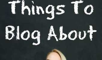 How To Choose Things To Blog About