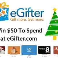 Win a $50 eGifter Promotional eGift Card to use at eGifter.com #2015HGG @egifter