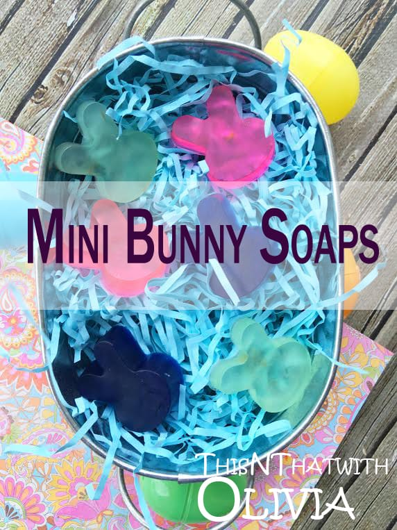 Mini Bunny Soaps for Easter