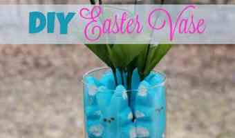 DIY Easter Vase #12daysof Easter Recipes & Crafts