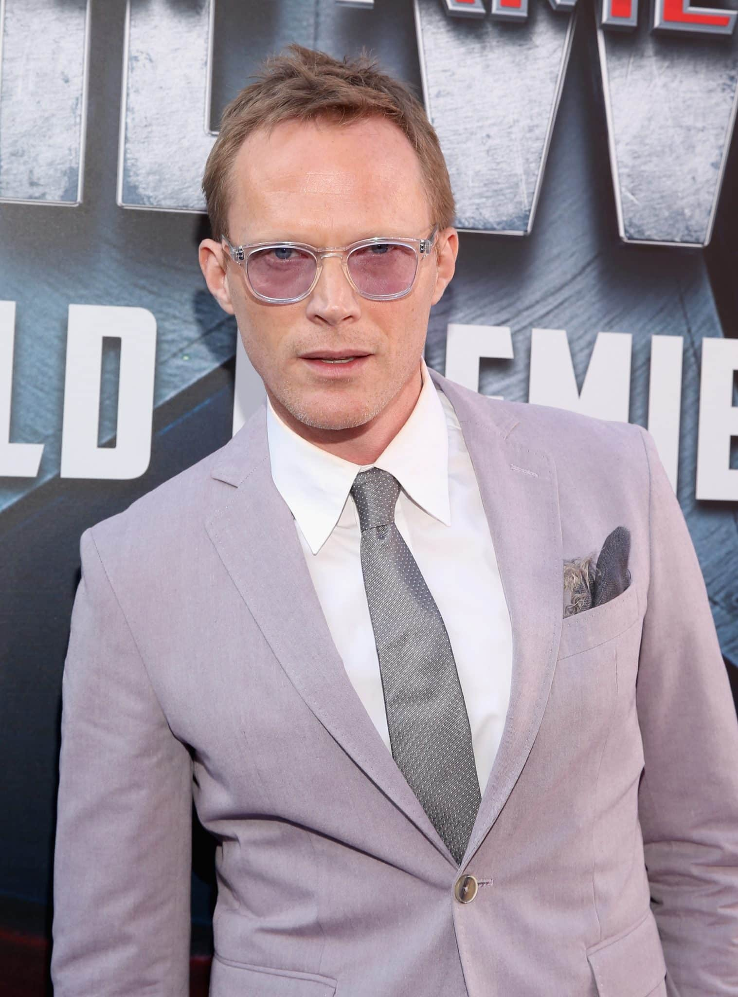 """HOLLYWOOD, CALIFORNIA - APRIL 12: Actor Paul Bettany attends The World Premiere of Marvel's """"Captain America: Civil War"""" at Dolby Theatre on April 12, 2016 in Los Angeles, California. (Photo by Jesse Grant/Getty Images for Disney) *** Local Caption *** Paul Bettany"""