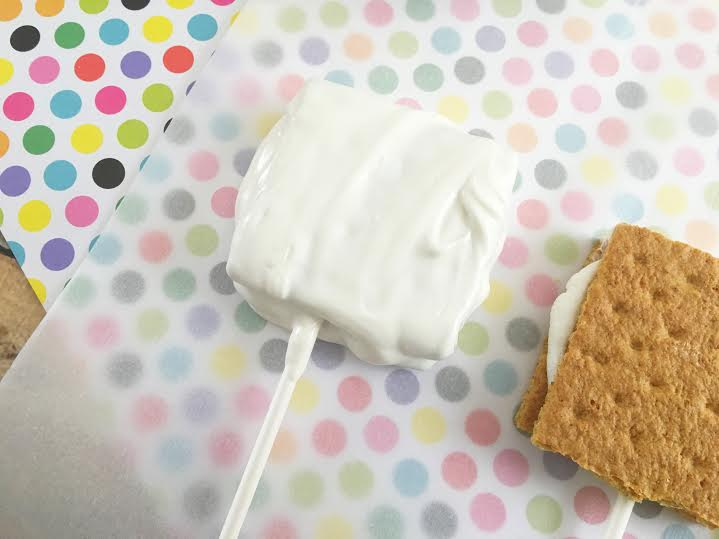 White Chocolate S'mores on a Stick
