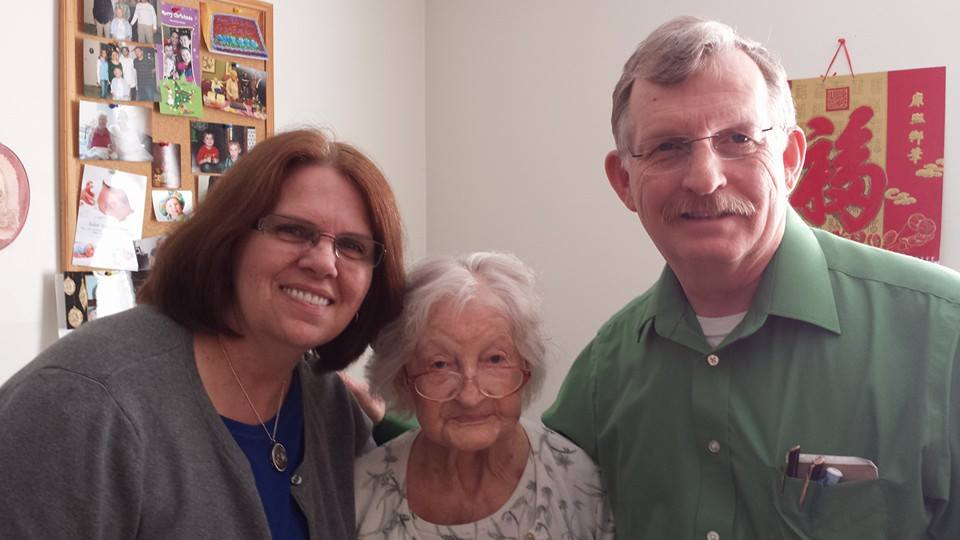 My Mom and Dad with Granny