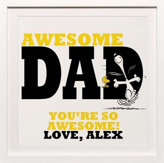 Awesome Dad Framed Art | ThisNThatwithOlivia.com