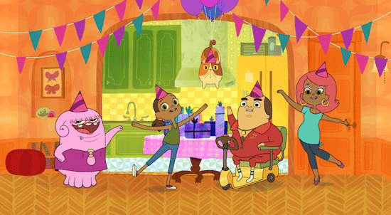 Tip throws Oh his very first birthday and Oh gets a crash course in secret-keeping when DreamWorks Home Adventures with Tip & Oh premieres on Netflix July 29. (Photo: DreamWorks Animation) (DREAMWORKS HOME ADVENTURES WITH TIP & OH © 2016 DreamWorks Animation LLC. All Rights Reserved.)