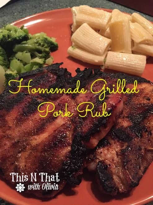 Homemade Grilled Pork Rub #GrillPorkLikeASteak #Ad | ThisNThatwithOlivia.com