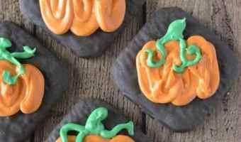 Pumpkin Chocolate Fudge Grahams | ThisNThatwithOlivia.com