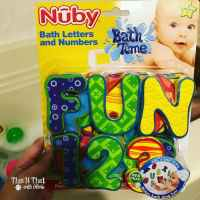 Bath Letters and Numbers from @NubyUSA #NubyUSA | ThisNThatwithOlivia.com