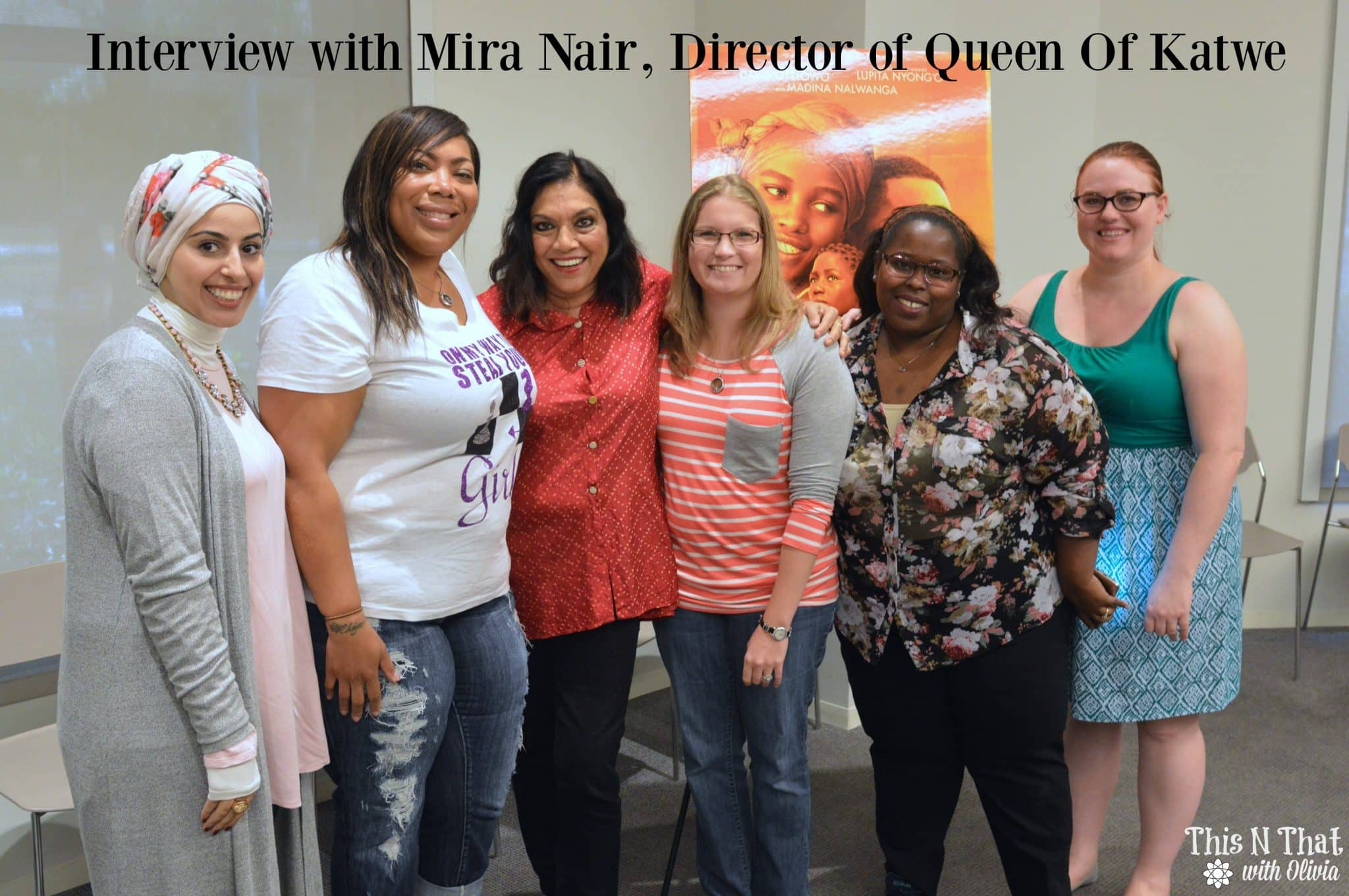 Interview with Mira Nair -- Director of Queen Of Katwe #QueenOfKatweEvent | ThisNThatwithOlivia.com