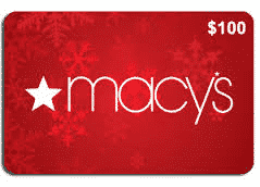 Enter to win 1 of 15 $100 Macy's Gift Cards (EASY Entry)!