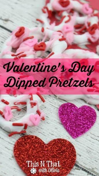 Valentine's Day Pretzels | ThisNThatwithOlivia.com