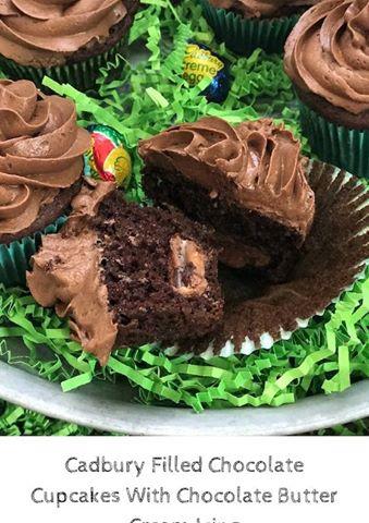 Cadbury Filled Chocolate Cupcakes #12DaysOf