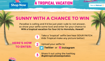 Enter the Sour Patch Kids Tropical Vacation Sweepstakes #spktropicalsweepstakes
