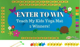 GIVEAWAY – Teach My Fish and Learn Yoga Mat 2 winners! @teachmy #yogaforkids #2017Spring
