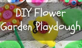 DIY Flower Garden Playdough! #allessentials #allsulfatefree