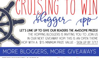 Join the Cruising To Win Giveaway Hop #TheHoppingBloggers #CruisingToWin