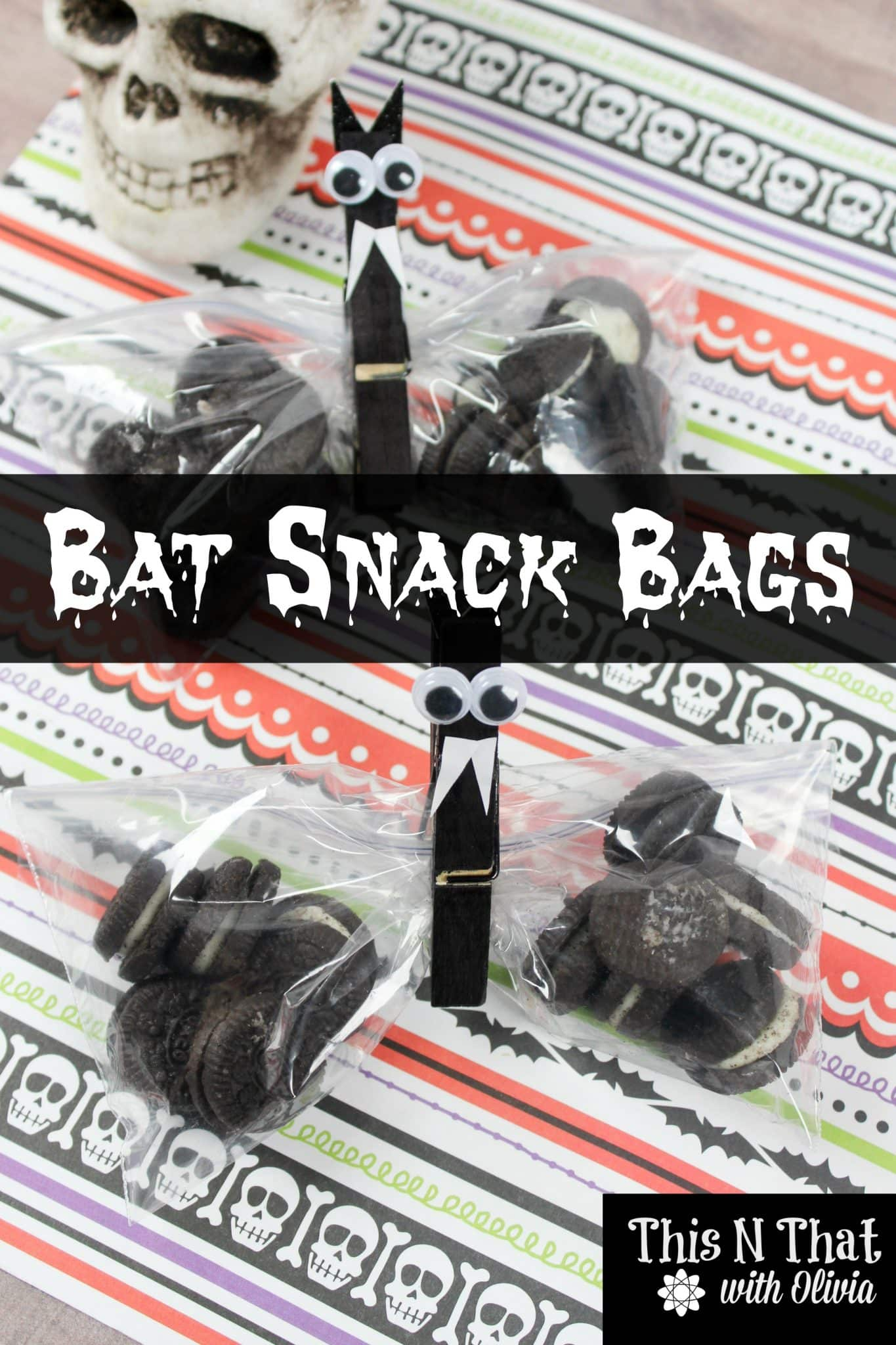 Bat Snack Bags for Halloween Treats!