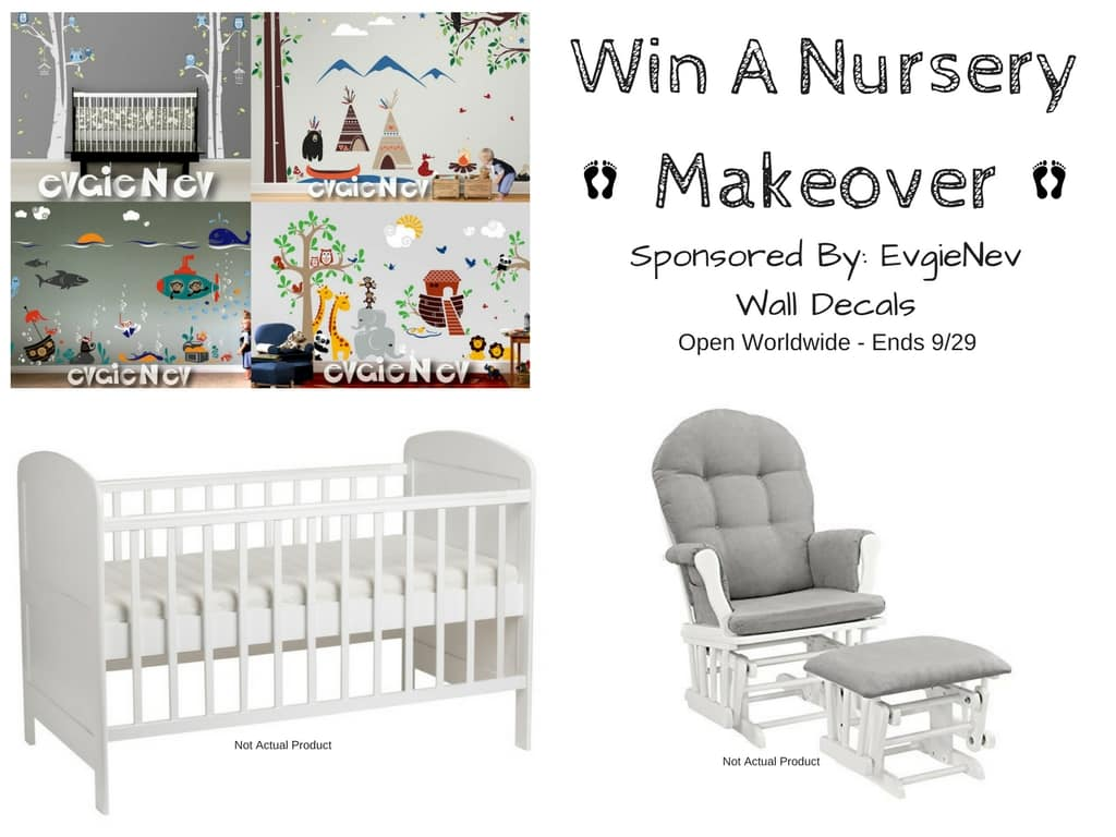 Win a Nursery Makeover from EvgieNev Wall Decals! Ends 9/29 @evgie #WallDecals #baby