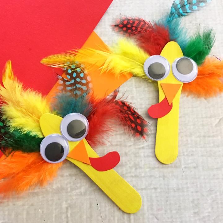 Craft Stick Turkeys Craft
