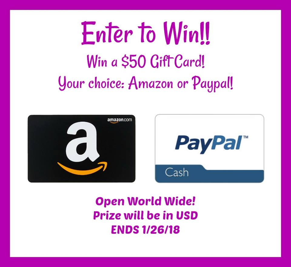 Enter To Win A $50 Amazon Gift Card Or PayPal -- Ends 1/26