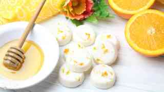 DIY Sweet Orange Honey Lotion Bars
