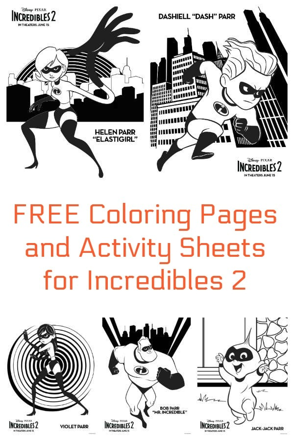 Free Coloring Pages And More For Incredibles 2 Incredibles2