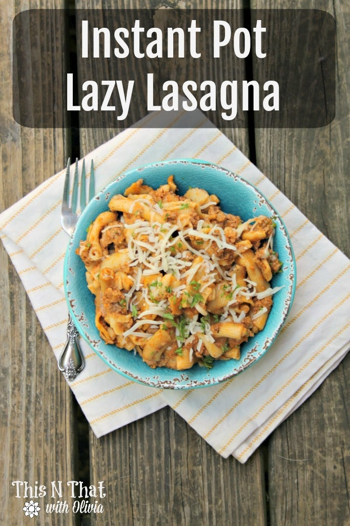Instant Pot Lazy Lasagna Recipe