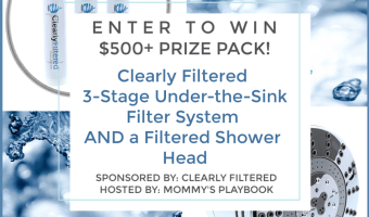Win a Clearly Filtered Shower Head AND 3-Stage Under-the-Sink Filter System (Ends 9/8)