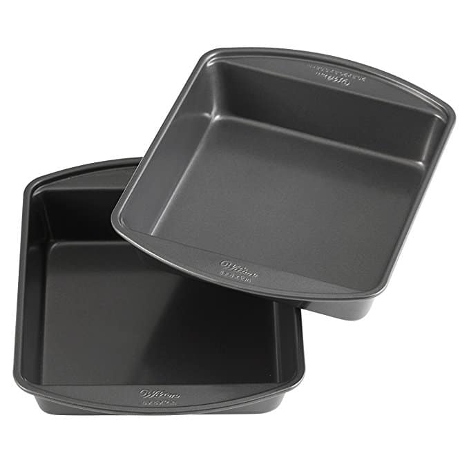 Wilton Perfect Results Non-Stick Square Cake Pans, 8-Inch, Multipack of 2