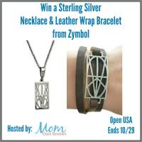 Win a Sterling Silver Necklace & Leather Wrap Bracelet from Zymbol (Ends 10/29)