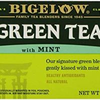 Bigelow Green Tea with Mint 20 Bags (Pack of 6) Caffeinated Individual Green Tea Bags, for Hot Tea or Iced Tea, Drink Plain or Sweetened with Honey or Sugar