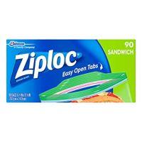 Ziploc Sandwich Bags, 90 Count