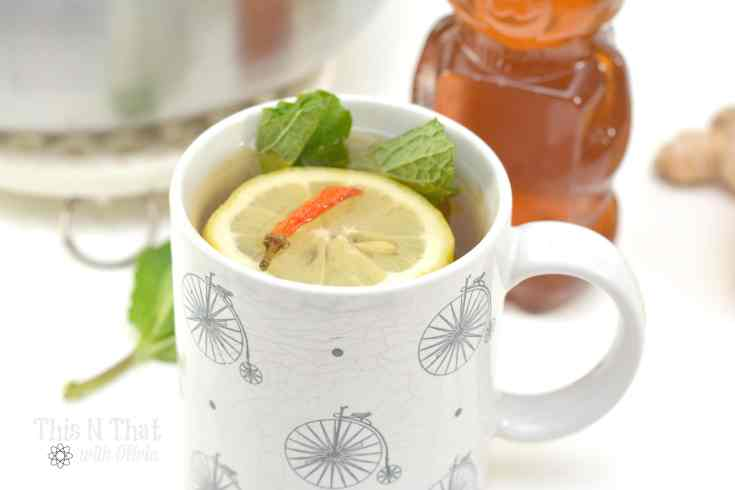 Cold Fighting Mint Green Tea