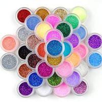 Surepromise 45 Colors Eyeshadow Makeup Nail Art Pigment Glitter Dust Powder Set