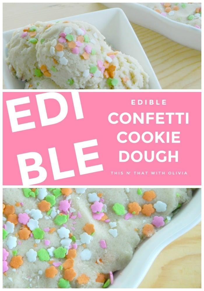 Edible Confetti Cookie Dough