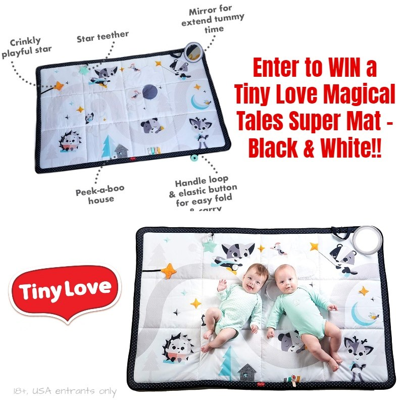 Enter to WIN a Tiny Love Magical Tales Super Mat – Black & White (Ends 7/10)
